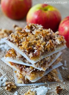 Apple Harvest Squares | 28 Ways To Eat Apples This Fall
