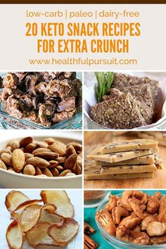 Keto Snack Recipes for Extra CRUNCH Without the Carbs (low-carb, paleo + dairy-free) (Healthful Pursuit) Low Carb Paleo, Paleo Keto Recipes, Paleo Dairy, Low Carb Diet, Ketogenic Recipes, Low Carb Recipes, Snack Recipes, Dairy Free, Keto Fat