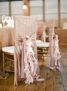 In whatever color scheme I choose.. wedding chair ruffles