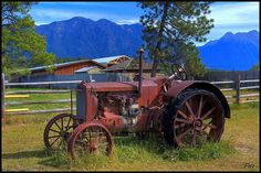 Love the mountains behind the tractor, picture by Pete