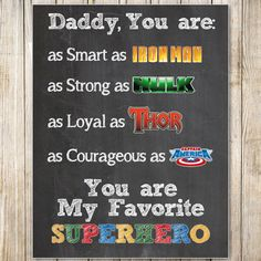 Father& Day Superhero Chalkboard by MasonsMommyDesigns, Easy Fathers Day Craft, Diy Gifts For Dad, Fathers Day Presents, Great Father's Day Gifts, Daddy Gifts, Happy Fathers Day, Diy Father's Day Crafts, Father's Day Diy, Father's Day Activities