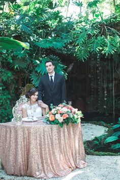 Shot from our beautiful style shoot from the Fall/Winter South Florida issue of Enchanted Brides magazine.   Photography | Jessica Vilchez Photography Creative Designer & Planner | Alina Moleta Floral & Decor Designer | Avant-Gardens Venue | The Miller Plantation Rental Company | Fetes & Events and Claudia's Party Rental Linens | Fetes & Events Invitation & Menu Card | Invitations by Leston Cake Designer | Cloud 9 Bakery Bridal Gown | J. Del Olmo Bridal Gallery Formal Attire | J. Del Olmo…