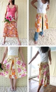 I have made two of these A line skirts (Amy Butler Patterns) Sew easy and I always get compliments! ..... this is a cute skirt!