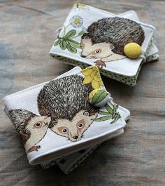 Linen Needle Books - Hedgehogs | Flickr - Photo Sharing!