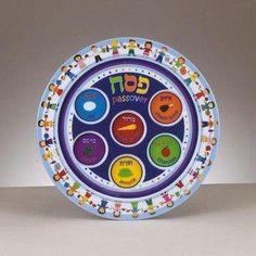 "Amazon.com: Passover Kid's Melamine Seder 9"" Plate: Kitchen & Dining"