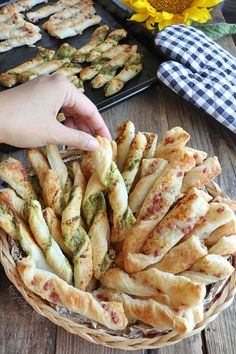 Get this super easy 2-in-1 Puff Pastry Sticks recipe that is perfect for snacks or appetizers. | www.foxyfolksy.com