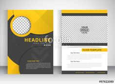 Vector: Template for brochure or flyer place for pictures. Editable site for…