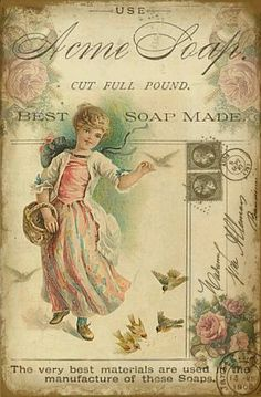 Acme Soap ad with girl Vintage Printable, Vintage Labels, Vintage Ephemera, Vintage Cards, Vintage Paper, Vintage Postcards, Decoupage Vintage, Decoupage Paper, Images Vintage