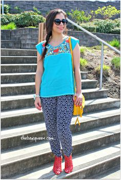 GOLDEN TOTE REVIEW & GIVEAWAY, Summer Style, Women 's Fashion, Outfit Idea, How To Wear Printed Lounge Pants