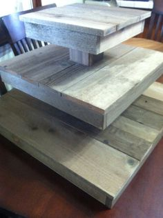 Rustic Cupcake Stand and Cake Stand... make out of wine barrel wood possibly.
