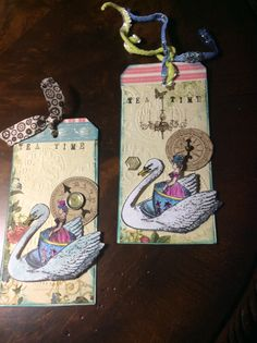 """""""Tea Time"""" by L'Ann Lackey for the Tea for Two Tag Swap, Feb., 2015, stamps by Catherine Moore"""