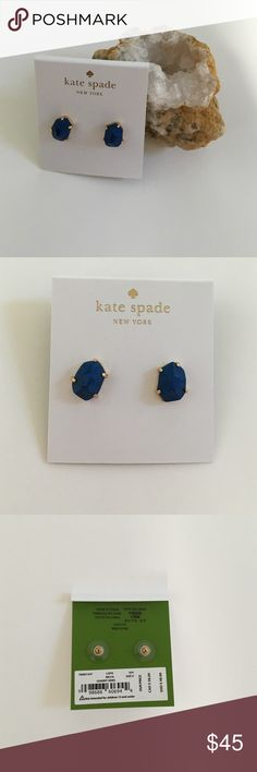 ‼️PARTY SALE‼️ Kate Spade Stud Earrings Kate Spade Stud Earrings blue and gold colors. Great fashion pop! kate spade Jewelry Earrings
