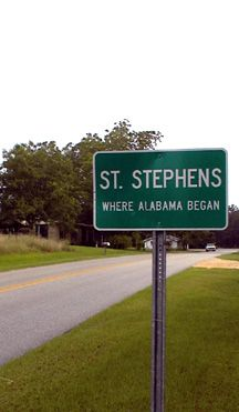 St. Stephens was the first state capital of Alabama.