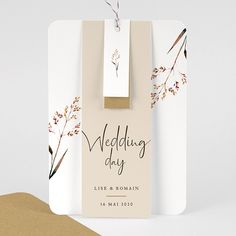 Faire-Part Mariage Champêtre Jolies Brindilles Wedding Card Design, Wedding Cards, Wedding Invitations, Wedding Weekend, Wedding Day, Thanks Card, Let's Get Married, Bali Wedding, Wedding Places