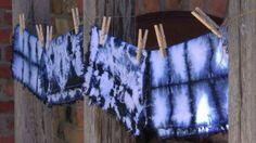 Camillas blå servetter färgade med shiboriteknik