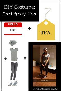 DIYEarl Grey Tea Costume #halloween #DIY #DIYCostume #pun #punny #costume #makeityourself #fall #funnycostume #easy #simple #lastminute