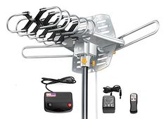 Amplified HD Digital Outdoor Hdtv Antenna 150 Miles Long Range with Motorized 360 Degree Rotation, UHF/VHF/FM Radio with Infrared Remote Control Long Range Tv Antenna, Best Outdoor Tv Antenna, Ham Radio Antenna, Antenna Tv, Digital Tv, Best Tv, Hd 1080p, The Ordinary, Remote