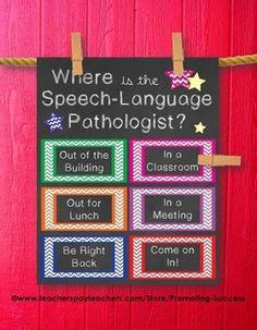 Where is the Speech Language pathologist sign