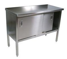 John Boos Cucina Marcella 16 Gauge Stainless Steel Enclosed Base Cabinet at http://butcherblockco.com