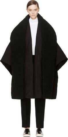 Yohji Yamamoto - Black Oversized Padded Coat