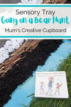 Tuff Tray ideas for toddlers and preschoolers for creative storytelling are my favourite! This We're going on a bear hunt tuff tray is perfect for toddlers and preschoolers alike. It's an easy toddler sensory activities with lots of different textures and it's a great were going on a bear hunt activities eyfs friendly too! I'd love to see if you have a go at this imaginative play activity. Sensory tray ideas toddlers. Sensory tray ideas EYFS. Preschool sensory tray ideas. #tufftray #eyfs Sensory Activities For Preschoolers, Rhyming Activities, Hands On Activities, Toddler Activities, Learning Activities, Toddler Sensory Bins, Toddler Fun, Sensory Play, Preschool At Home