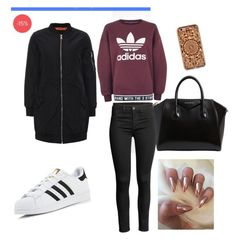 """Без названия #3"" by ksunyavv on Polyvore featuring мода, adidas, Topshop, Givenchy и Felony Case"