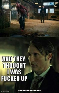 The most hilarious Hannibal moment yet! His face is priceless!