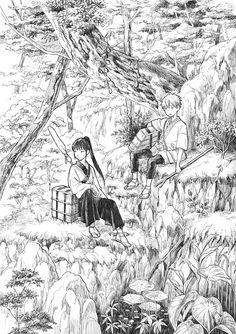 「旅の途中」/「翠静 藍」のイラスト [pixiv] Nanako