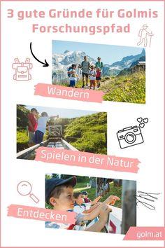 Ein Forschungspfad bringt nicht nur Spaß mit sich, sondern hat auch noch viele weitere Vorteile. Neben einer gemeinsamen Wanderung könnt ihr an unzähligen Möglichkeiten spielen oder die Natur entdecken. Ein lernreiches Abenteuer für groß und klein! Youth Groups, Birdwatching, Kids Fun, Family Vacations