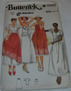 Butterick Sewing Pattern Lady's Top Blouse & Skirt No 5387 | eBay
