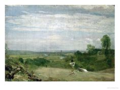 Summer Morning: Dedham from Langham Giclee Print by John Constable at Art.com