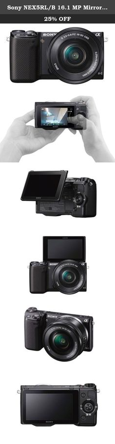Sony NEX5RL/B 16.1 MP Mirrorless Digital Camera 16-50mm Power Zoom Lens and 3-Inch LED (Black). Shoot and share DSLR-quality photos online, straight from the camera. With built-in Wi-Fi®, the NEX-5R even lets you download camera apps for endless creative possibilities.11 And the 16.1MP APS-C size sensor delivers breathtaking stills with pro-grade defocused backgrounds. All this and more in a camera that's about half the size of a DSLR.