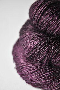 Rotting plums OOAK  Tussah Silk Yarn Lace weight by DyeForYarn, €26.50