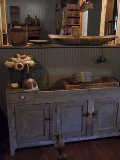 DRY SINK AND TREEN.