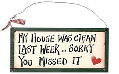 Ohio Wholesale My House was Clean Wall Art from our Humor Collection ** For more information, visit image link. (Note:Amazon affiliate link) #HomeGadgets
