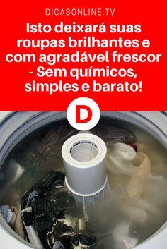 Dica: Esta informação, vai fazer você mudar para sempre a forma como lava roupa. Aprenda, faça e comprove ↓ ↓ ↓