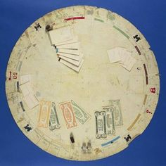 Charles Darrow started producing Monopoly games on March 7, 1933 Pictured: a Round Oilcloth Board, from The Forbes Collection, was 1 of 5000 made.