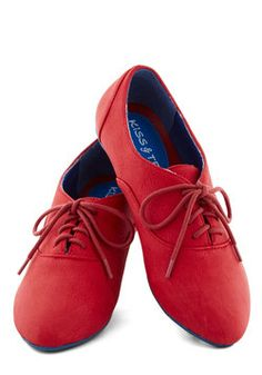 Art's Desire Flat in Red, #ModCloth