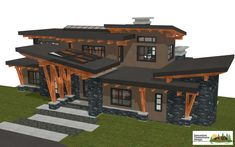 West Coast Contemporary style architecture Samuelson Timberframe
