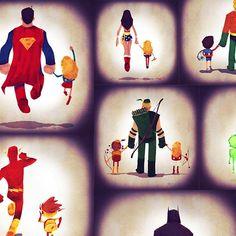 liga-da-justica-pais-e-filhos-ilustracao-Andry-Rajoelina