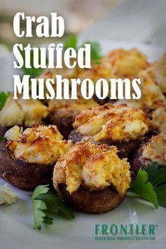 Decadent and delicious crab stuffed mushrooms recipe