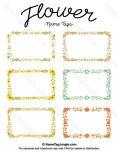 flower tags template free - free printable butterfly name tags the template can also