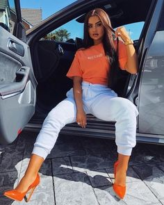 discount code DRIPPPP DRIPPPP tee from coalnterryvintage Heels- simmishoes discount code Mode Outfits, Stylish Outfits, Girl Outfits, Fashion Outfits, Womens Fashion, Fashion Killa, Look Fashion, Mode Adidas, Casual Chic