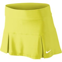Nike 14 Four Pleated Womens Tennis Skirt - Electric Yellow, M ($33) found on Polyvore Good for golf too???
