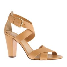 "Perfect Nude Sandals!  Nude shoes make even the self-proclaimed ""least sexiest legs"" look amazing. Even better when they are comfortable and you can wear to a tradeshow all day without needing to slip on flip flops for relief when no one is looking.  Mari sandals by J. Crew"