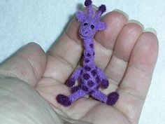 Tiny purple giraffe