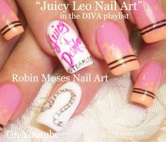 Nail Art Design - Zodiac Sign - DIY Leo Nails Tutorial