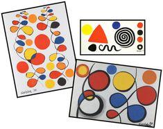 Alexander Calder - have them draw shapes Alexander Calder, Art Education Projects, Art Projects, Elements Of Art Space, Kindergarten Drawing, Ecole Art, Shape Art, Art Lessons Elementary, Drawing Challenge