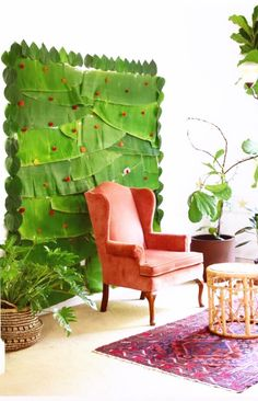 An Indian woman gets innovative and sources fresh banana leaves from her Indian store for this stunning baby shower backdrop! Background Decoration, Backdrop Decorations, Wedding Decorations, Rainbow Decorations, Diy Backdrop, Flower Decorations, Backdrops, Decorating Blogs, Interior Decorating