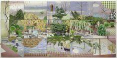 15 Blicke, Öl auf Leinwand, 120 x 250 cm, 2009 Matthias Weischer